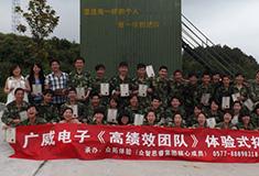 广威电子高绩效团队体验式拓展培训